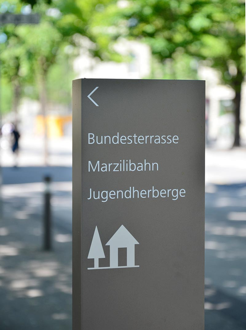 Signage for the environment Bundeshaus Bern, Switzerland